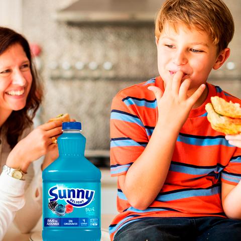 meriendas con Sunny Delight Blue