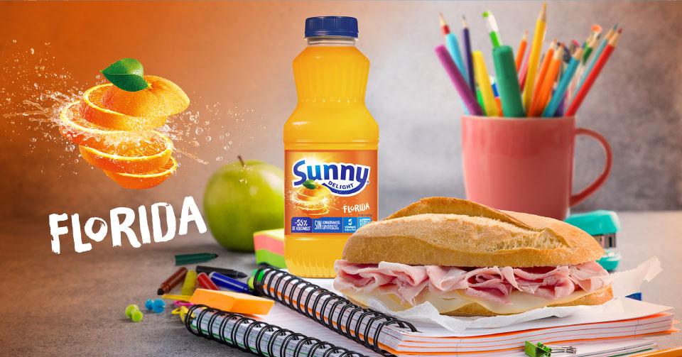 meriendas con Sunny Delight Florida