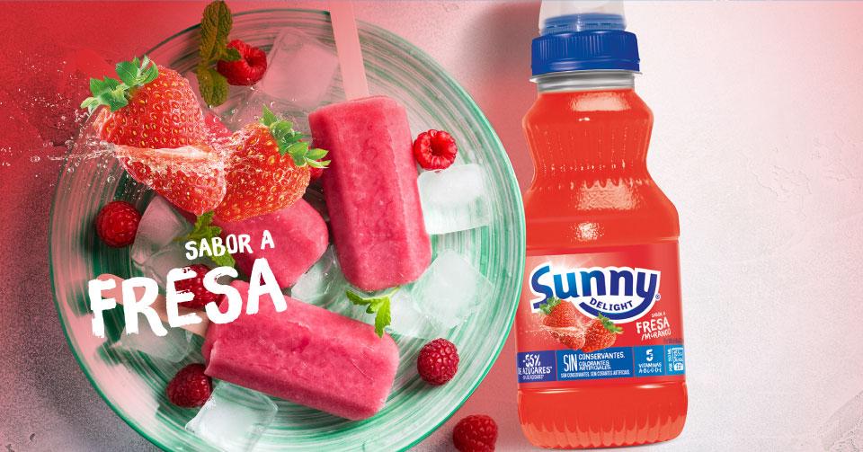 meriendas con Sunny Delight Fresa