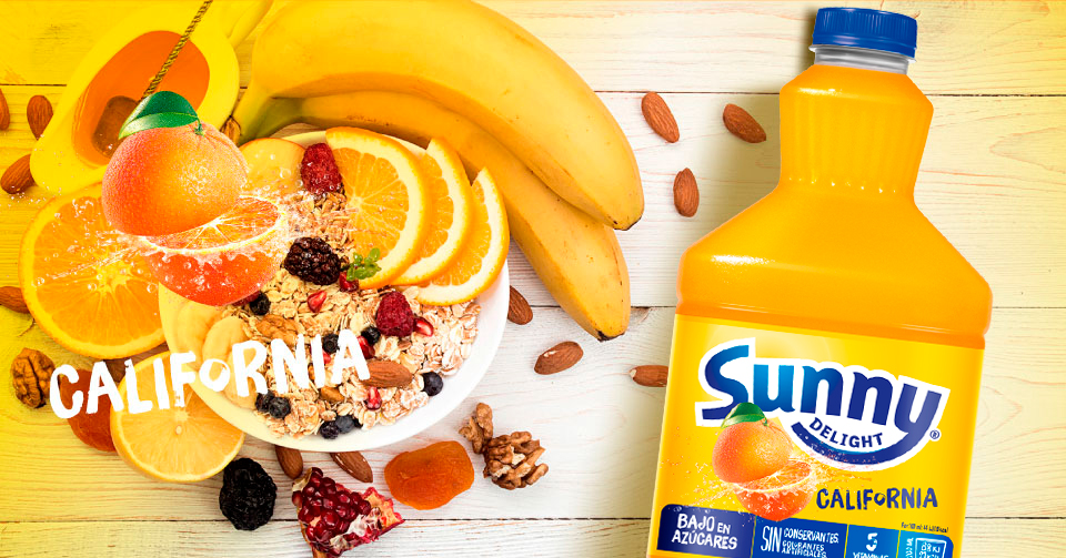 meriendas con Sunny Delight California