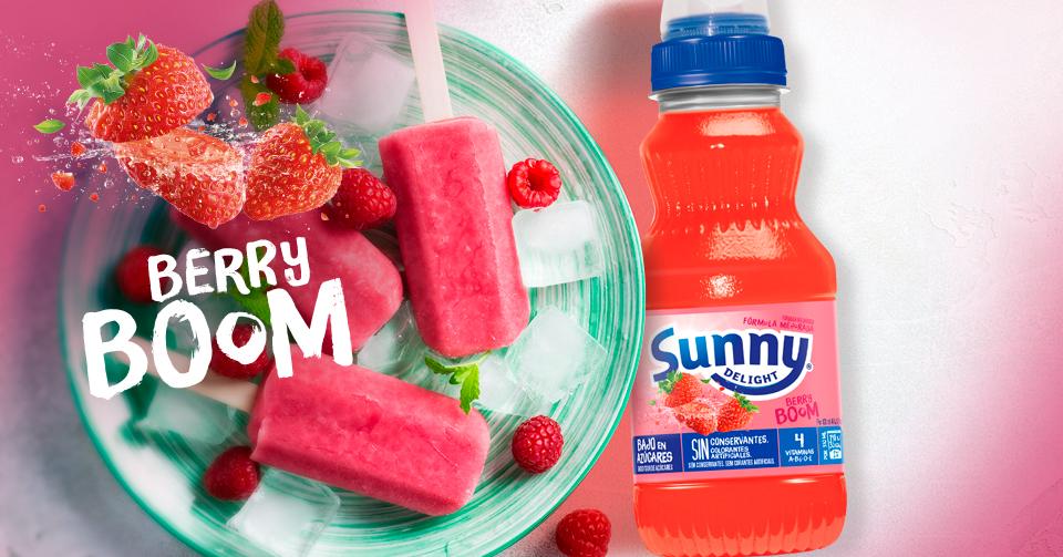 meriendas con Sunny Delight Berry Boom