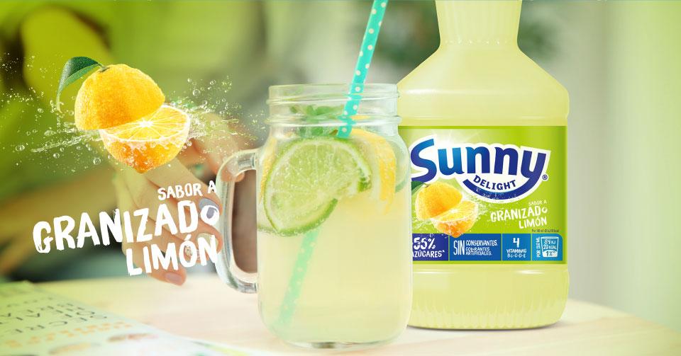 meriendas con Sunny Delight Limón